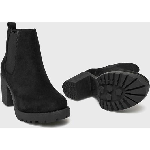 25f78c7220094 Answear botki bez wzorów casual bez zapięcia na obcasie w Domodi
