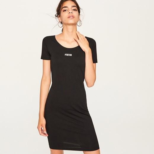 1fc984ec97 Reserved - Dopasowana sukienka - Czarny Reserved M