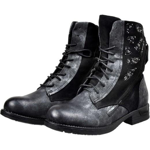0fd46f15fee6f Workery damskie Kayla Shoes casual ze skóry ekologicznej czarne z ...