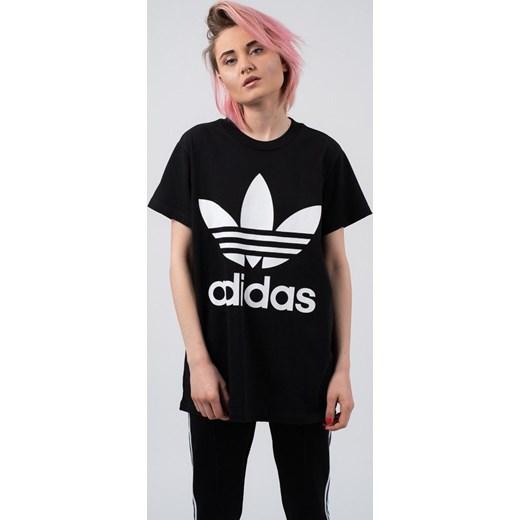 Koszulka damska adidas Originals Adicolor Big Trefoil CE2436 CZARNY sneakerstudio.pl
