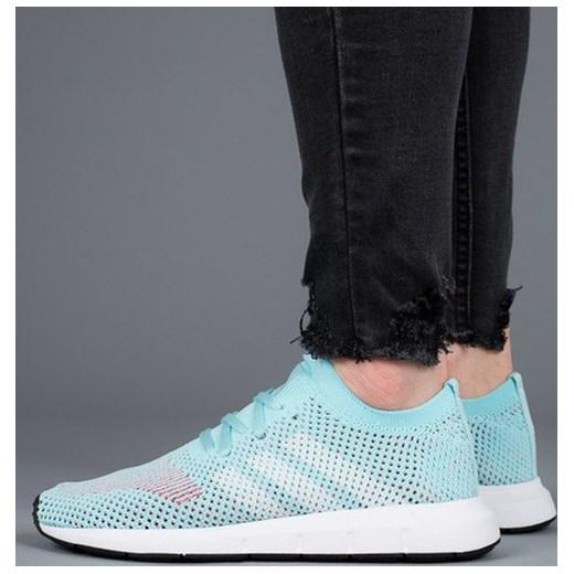 autoryzowana strona szczegółowe zdjęcia sprzedaż Buty damskie sneakersy adidas Originals Swift Run CQ2034 - NIEBIESKI  mietowy sneakerstudio.pl