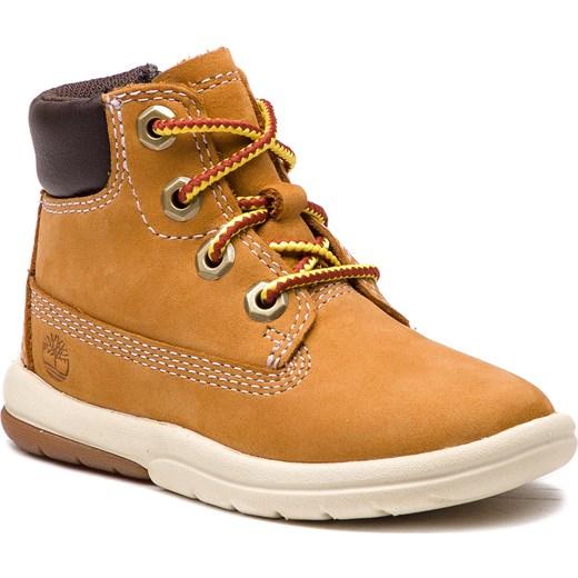 56b57e7f Timberland buty trekkingowe dziecięce z nubuku sznurowane gładkie w ...