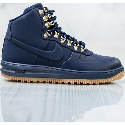 watch 823da 561af Buty zimowe męskie Nike niebieskie sznurowane