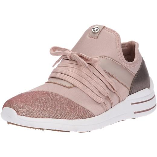 4300ff5591ef5 Buty sportowe damskie Tom Tailor sznurowane różowe bez wzorów w Domodi