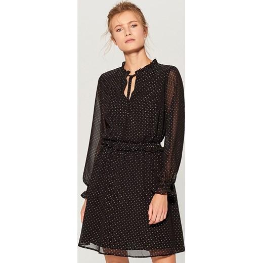 8b046446 Mohito - Sukienka w groszki Czarny