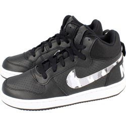 6400cc2c Trampki damskie czarne Nike court sznurowane płaskie bez wzorów