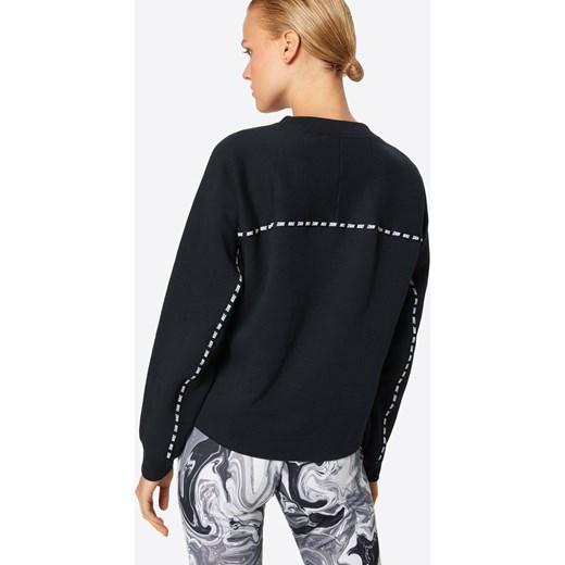 Czarna bluza damska Nike Sportswear z napisem z dresu krótka