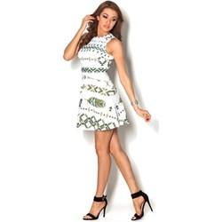 dd941e0fcc Sukienka Beyounique wielokolorowa na urodziny bez rękawów mini