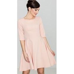10e1ab4224 Lenitif sukienka różowa rozkloszowana