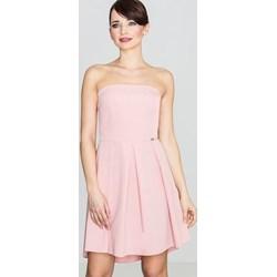8527e82508 Różowe sukienki rozkloszowane bez rękawów