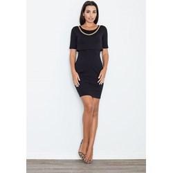 13dedcd433 Sukienka Figl z krótkimi rękawami na spotkanie biznesowe midi