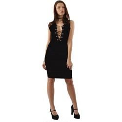 ae61e51d58 Sukienka Kelly Couronne ołówkowa z dekoltem v na wieczór gładka bez rękawów