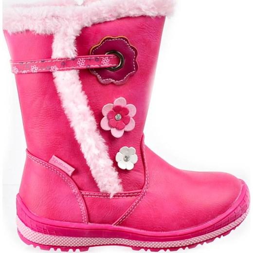 31274696 Ocieplane kozaki śniegowce dla dziewczynki FUKSJA /F6-2 2595 K3/ Awards 29  pantofelek24 ...
