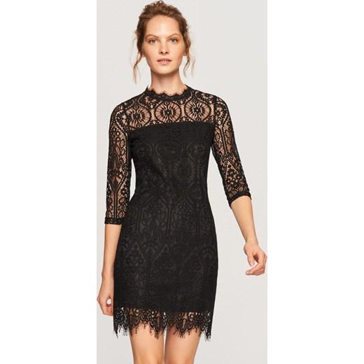 7b7d157849 Reserved - Koronkowa sukienka - Czarny czarny Reserved 36 ...