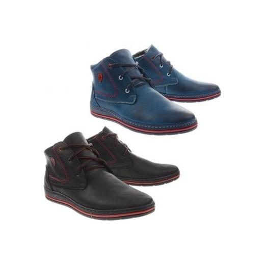 53f65048 Zimowe buty męskie 039 czarne butyolivier w Domodi