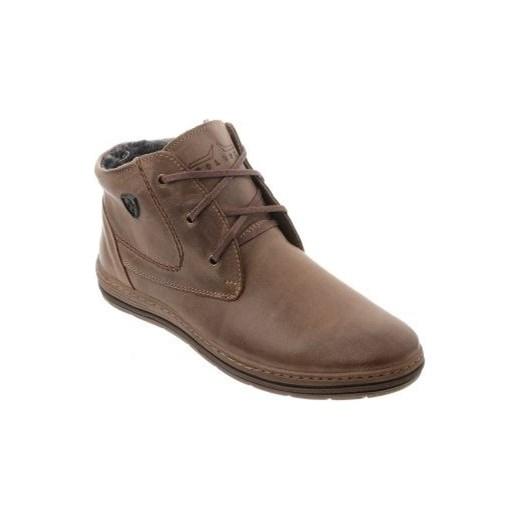 fbb636f4 Zimowe buty męskie 039 brązowe butyolivier w Domodi