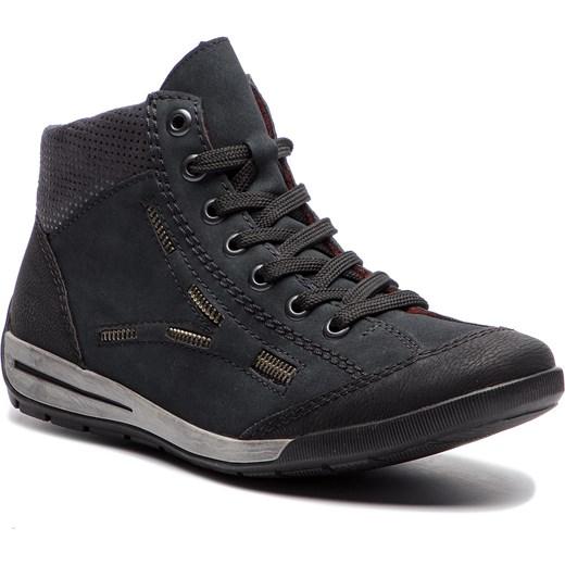 c8fb847179b56 Sneakersy RIEKER - M3031-01 Schwarz Rieker 36 eobuwie.pl