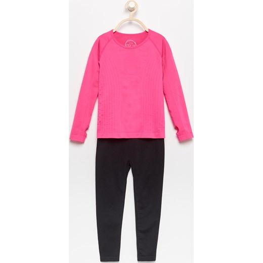 073dc42345f98 ... Reserved - Bielizna termoaktywna: spodnie i koszulka - Różowy rozowy  Reserved 134/140 ...