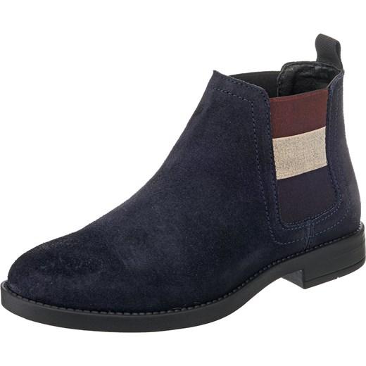 5d0c5196aeae7 Botki niebieskie Tommy Jeans casual bez zapięcia w Domodi