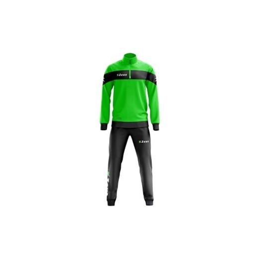 44cefcc1a7222 Dres piłkarski Zeus Tuta Marte czarno-zielony fluo zielony Cenga.pl ...