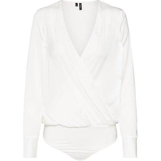 d54e2c55c6 Bluzka damska Vero Moda biała  Bluzka damska Vero Moda z długim rękawem  koronkowa wiosenna ...