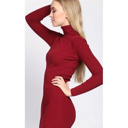 c1f05ba813 ... Sukienka Born2be czerwona na co dzień  Sukienka Born2be czerwona  ołówkowa na co dzień. Sukienka Born2be z golfem rockowa midi ołówkowa