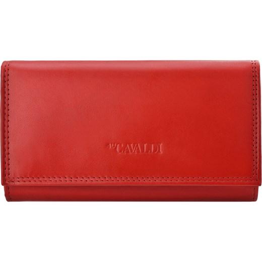 c4b087dd0fe11 Klasyczny portfel damski cavaldi miękka skóra naturalna - czerwony Cavaldi  world-style.pl ...