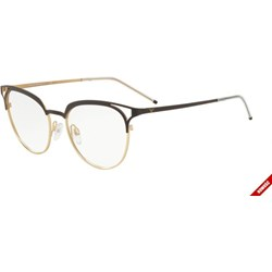 a138045d1f37 Złote okulary korekcyjne damskie emporio armani