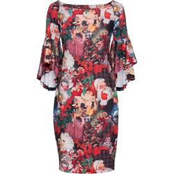 7aeb1d8d65 Sukienka Bonprix Bodyflirt Boutique midi z długim rękawem ołówkowa