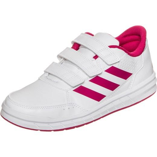4c7c35f125a9b Adidas Performance buty sportowe dziecięce bez wzorów białe na rzepy ...