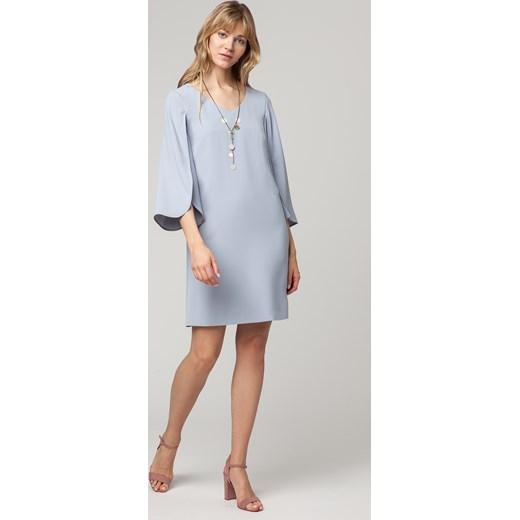 6dc7c2fb26 Sukienka Solar z długimi rękawami midi w Domodi