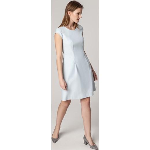 77ebfcf885 Sukienka Solar bawełniana midi z krótkim rękawem na wiosnę w Domodi