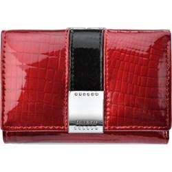 fccd2c2928521 Portfel damski czerwony Lorenti elegancki gładki