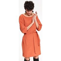 e20aa7799f Top Secret sukienka brązowa na randkę z okrągłym dekoltem bombka