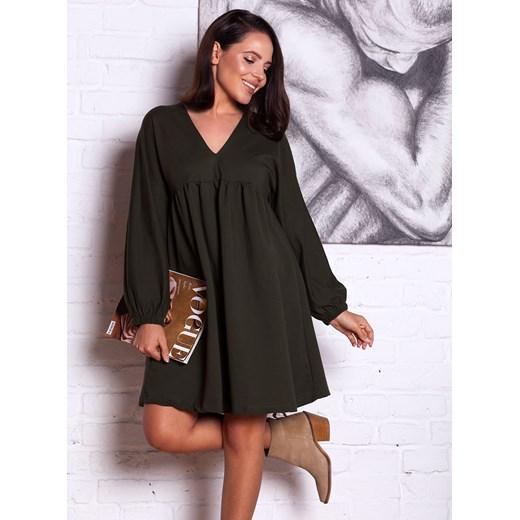 29df928639 Sukienka czarna Selfieroom elegancka midi oversize na co dzień z elastanu  ...