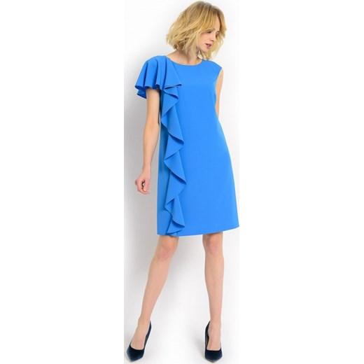 7297e4422e Sukienka wizytowa z pionową falbaną Potis   Verso ROBIN Eye For Fashion