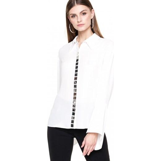 94ed8f636dadc ... Koszula damska Aneta Kręglicka X L'af biała elegancka z długim rękawem  z kołnierzykiem ...