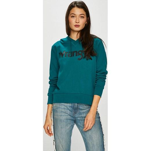 zielona bluza wrangler damska z kapturem