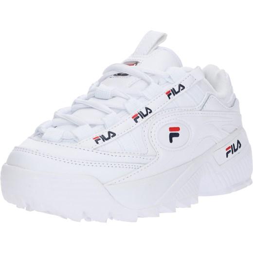 przyjazd pierwsza stawka gorąca sprzedaż online Sneakersy damskie białe Fila bez wzorów ze skóry wiązane na lato