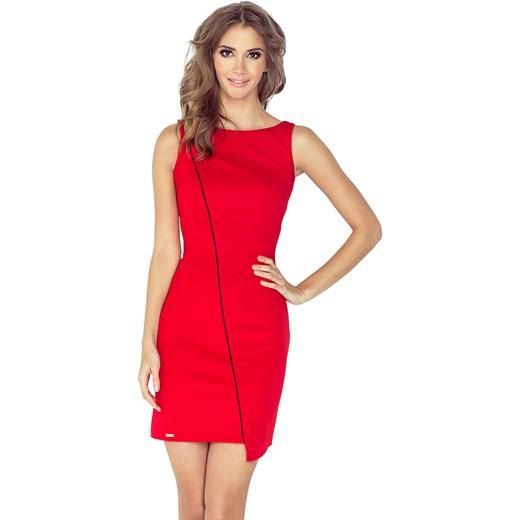 7910ef1f7d Sukienka bez rękawów czerwona bez wzorów na randkę w Domodi