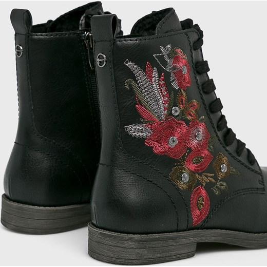 5a38af6bbe8a9 ... płaskie wiązane casual; Workery damskie Tamaris casual w kwiaty