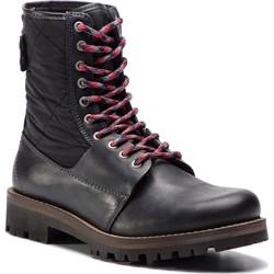 2923068acd2f7 Tommy Hilfiger buty zimowe męskie militarne skórzane ...