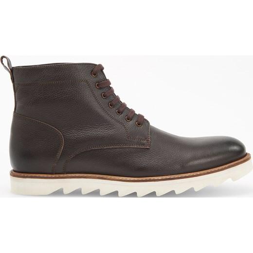 9eb3c2f281976 ... Reserved - Skórzane buty za kostkę - Brązowy Reserved 45 · Buty zimowe  męskie ...