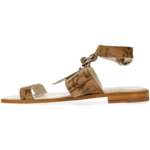 Sandały damskie Tamaris brązowe casual z klamrą na średnim obcasie