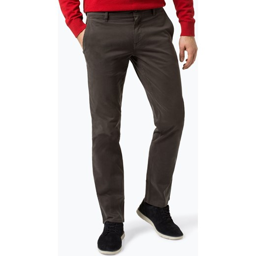 bfd70bd73c7fa BOSS Casual - Spodnie męskie – Schino-Regular D, szary vangraaf w Domodi