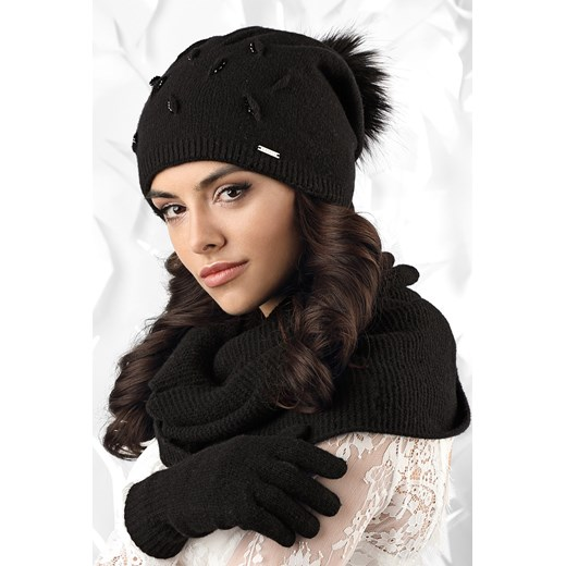 5469eee90e46 Damska czapka Forli czarny Kamea Astratex w Domodi