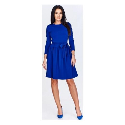 1f1437025101 Sukienka Bien Fashion na urodziny niebieska bez wzorów z okrągłym dekoltem  ...