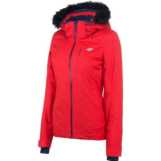 Kurtka narciarska damska H4Z18 KUDN005 4F (czerwona) wyprzedaż SPORT SHOP.pl