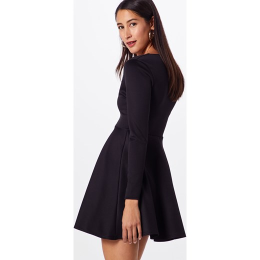 aa2e7ce6a8 ... Sukienka  Black Scuba Plunge Skater Dress  Missguided 36 AboutYou ...
