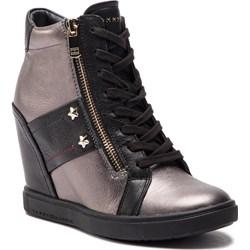 ea53d7765e51f Sneakersy damskie Tommy Hilfiger z tworzywa sztucznego sznurowane gładkie